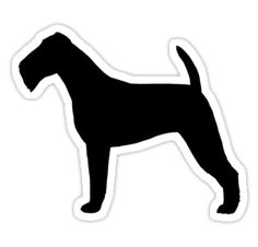 Irish Terrier Silhouette Waterproof Die-Cut Sticker