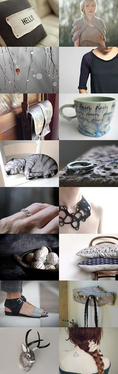 Big Grey World by SoFino on Etsy--Pinned with TreasuryPin.com