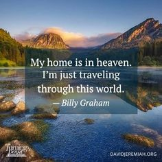 My home is in heaven. I'm just traveling through this world. Bible Verses Quotes, Faith Quotes, God Jesus, Jesus Girl, Christian Memes, Favorite Bible Verses, God Loves Me, Believe In God, Strong Quotes