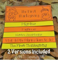 The First Thanksgiving Flip Flap Book...interactive and fun way to collect and organize learning