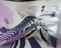 zaha hadid: form in motion exhibition  philadelphia, pennsylvania, USA  on now through march 25th 2012