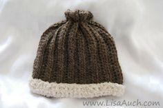 How to Crochet a Simple Crochet Hat (FREE crochet pattern)