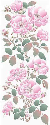 Large Rose stencil