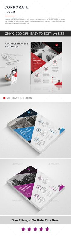 Buy Corporate Flyer by Mister-Templater on GraphicRiver. This layout is suitable for any project purpose. Very easy to use and customise. Business Flyer Templates, Flyer Design Templates, Print Templates, Flyer Size, Flyer Layout, Easy To Use, Corporate Brochure, Esl, Purpose
