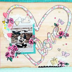 LOVE layout by Amanda Baldwin for @paperissues Working Title challenge features Crate Paper Cute Girl collection