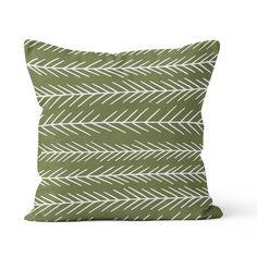 Pine tree pillow cover cedar green pillow forest by RiverOakStudio