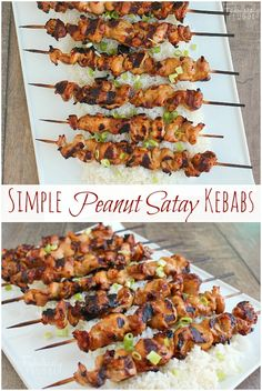 Freezer Meal Recipes: Simple Peanut Satay Chicken Kebabs