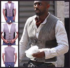 Idris Elba Dark Tower Gunslinger Vest Idris Elba Dark Tower, Roland Deschain, Classy Man, The Dark Tower, Vest, Style, Stylish Man, Swag, Stylus