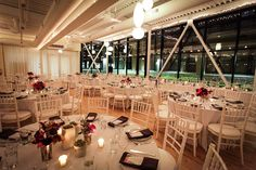 Erin & Jim's dining room set at Greenhouse Loft!  Photo provided by Greenhouse Loft Photography