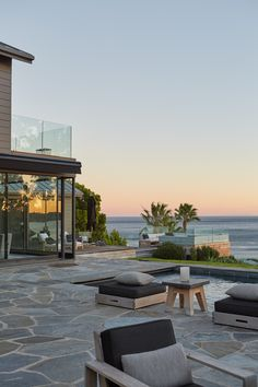 The view from Courteney Cox's patio over the breathtaking beaches of Malibu.
