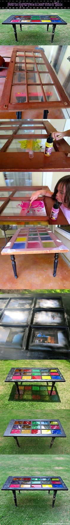 How to Repurpose a Door into a Table