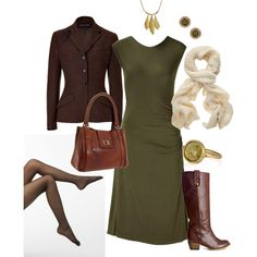 Olive & Green Work Outfit
