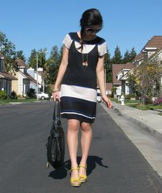 Adrienne Nguyen :: Ma Dernière Addiction...: Lunar New Year - // BCBG Max Azria Dress // Seychelles Wedges // Kooba Bag // Chanel Sunglasses // Material Girl Necklace // Bracelet from Nordstrom // Ring from 3rd grade! // Hair tie from Korea //