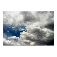 Summer Storm Clouds, Nevada Posters by daysrays