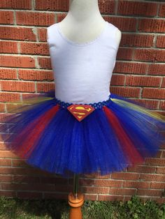Girls Superman Tutu - Child Superman Tutu - Superman Inspired Tutu - Kids…
