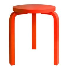 What a showstopper! Artek's former Head of Design brings attention to the Stool 60 by using a color usually reserved for emergency situations. Artek Special Edition Tom Dixon Aalto Stool 60
