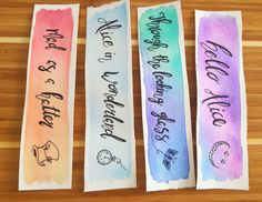Through the Looking Glass Watercolor Bookmark by Marquisdusoleil
