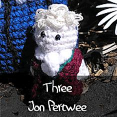 Dr Who - Third Doctor by Nyss Parkes (These mini Doctors do come in one single download, but they simply must be represented individually!) Free Pattern: http://www.ravelry.com/download/146980/free  #TheCrochetLounge #DrWho Collection