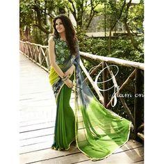 Saiveera Fashion Green Georgette Saree #Manufacturer #Embroidery  #Wholesaler  #Retailar  #Embroidery #Salwar Suit #Cotton,Fancy, Kurtis #Printed Saree #ChanderiCotton,Cotton Dress Material