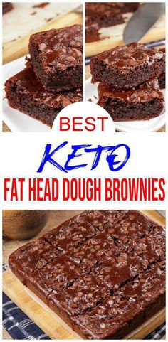 Check out these keto brownies! EASY keto recipe for the BEST fathead dough fudgy chocolate brownies. Low carb diet recipe for delicious brownies u wil Keto Desserts, Desserts Sains, Keto Snacks, Dessert Recipes, Brownies Cétoniques, Chocolate Brownies, Chocolate Desserts, Chocolate Churros, Paleo Chocolate