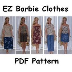 Download EZ Barbie Clothes Sewing Pattern | Toys & Activities | YouCanMakeThis.com