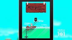 Menu Appear in Ridiculous Fishing GAMEgifs - http://bit.ly/GAMEgifs