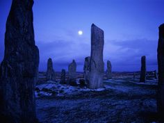Standing Stones (So lovely and enchanting. Scotland has always seemed magical to me. How could it not with imagery like that?)