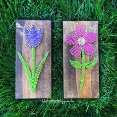 Tulip and daisy string art