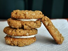 Peanut Butter Oat Cookies with Salted Honey Buttercream