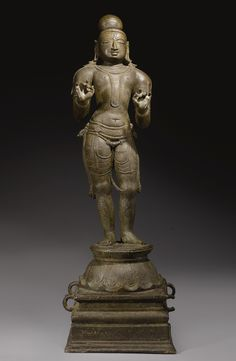 "Vaishnava Alavar<br>Copper alloy<br>South India, Vijayanagar Period | lot | Sotheby's 25-1/4"" Krishna Krishna, Hare Krishna, Chola Dynasty, Hindu Statues, Indian Artifacts, Hindu Deities, South India, Bronze Sculpture, Wood Carving"