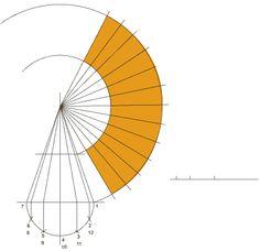 Radial line pattern development