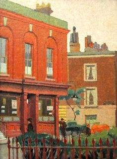 Malcolm Drummond (1880-1945)  A Chelsea Street. Oil on canvas.  Ashmolean Museum.