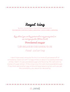 {RECIPE} Royal Icing for Decorating Cookies ~ on the #VeryJane Blog