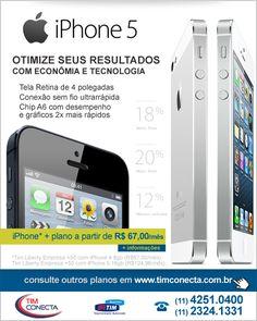 Campanha e-mail marketing de iPhone 5 para o Plano Tim Empresa para o cliente Tim Conecta.
