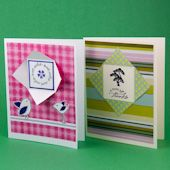 See how quick and easy it is to make a window card with double-sided paper or cardstock. Use a variation of this technique to make peephole/aperture cards.
