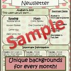 Looking for a newsletter template that has personality and provides you with plenty of space to share important news and events with your parents? Look no further? I've been using this newsletter with my kindergarten classes and everyone loves it! You will too!