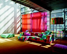 sheers as room divider  - from missoni summer line