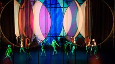 Olafur Eliasson used a combination of mirrors and coloured screens to create different abstract scenes for Wayne McGregor's Tree of Codes ballet.