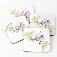 Coaster Set, Buy Art, Pattern Design, Floral Design, Vibrant, Art Prints, Mugs, Printed, Awesome