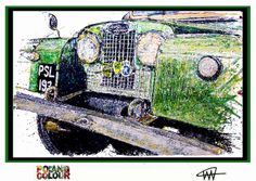 Land Rover Series 1 by Ian Cook / PopbangColour Land Rover Car, Land Rovers, Land Rover Defender, Wheels And Tires, Car Wheels, Landrover Series, Amazing Paintings, Shrek, Defenders