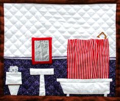 dollhouse quilt (each block is a different room) Paper Piecing Patterns, Patchwork Patterns, Quilt Patterns, Patchwork Quilting, House Quilts, Children's Quilts, Dollhouse Quilt, Foundation Paper Piecing, Doll Quilt