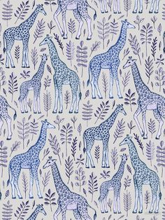'Blue Giraffe Pattern' Art Print by micklyn Giraffe Illustration, Pattern Illustration, Giraffe Pattern, Pattern Art, Textures Patterns, Print Patterns, Conversational Prints, Pink Giraffe, Whatsapp Wallpaper