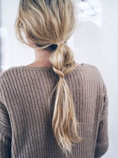 Hair Inspiration: Half + Half Braided Ponytail - Looking for affordable hair extensions to refresh your hair look instantly? http://www.hairextensionsale.com/?source=autopin-pdnew