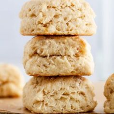 Flaky, Fluffy Southern Buttermilk Biscuits Recipe -- A step-by-step recipe for baking flaky, fluffy biscuits from scratch; you'll never guess my secret-yet-simple technique for foolproof biscuits! girlversusdough.com @girlversusdough #girlversusdough #bakingtips