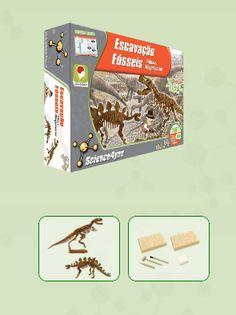 ESCAVAÇÃO FÓSSEIS - T-REX E STEGOSAURUS  Descobre: O que é a Paleontologia - Quais as melhores técnicas de escavação - Onde poderás encontrar um fóssil - Qual a causa de extinção dos dinossauros - Como escavar fantásticos fósseis de dinossauro