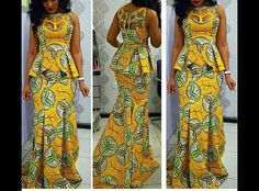The Gbemisola African print dress by FashAfrique on Etsy ~African fashion, Ankara, kitenge, African women dresses, African prints, African men's fashion, Nigerian style, Ghanaian fashion ~DKK