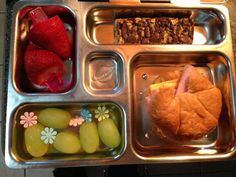 Fun bento box school lunch for kids