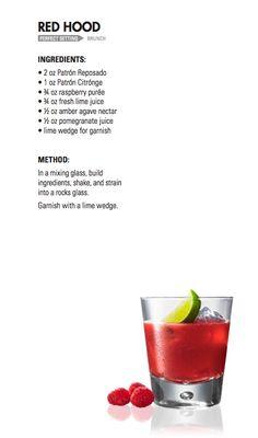 RED HOOD   Patrón Tequila