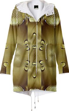 Raincoat in gold from Print All Over Me