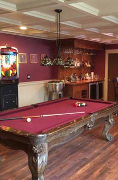 43 Billiard Room Design Ideas | Sebring Design Build Kids Pool Table, Pool Table Room, Kid Pool, Billiard Pool Table, Billiards Pool, Antique Pool Tables, Billiard Accessories, Game Room Basement
